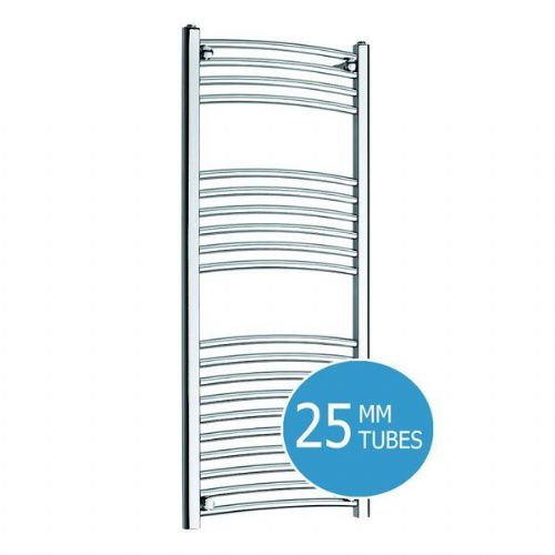 Kartell K-Rail Premium Curved Towel Rail - 500mm x 1000mm- Chrome